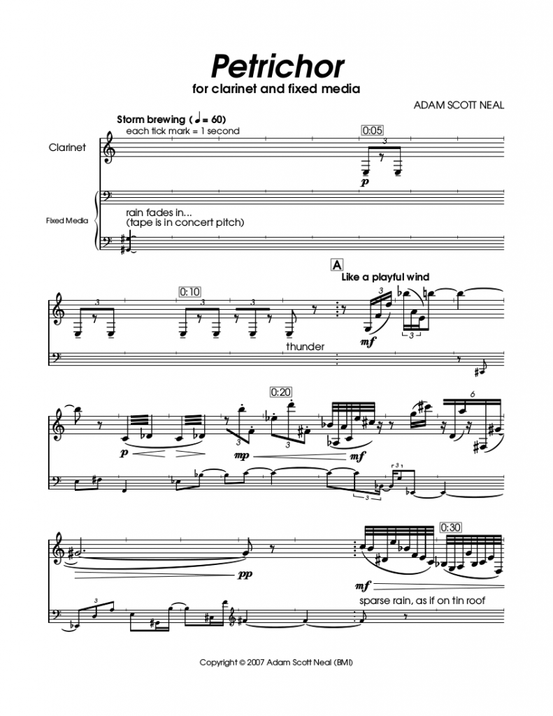 Petrichor score