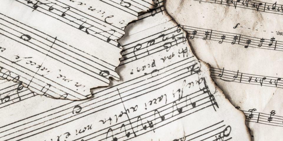 Scraps of music paper